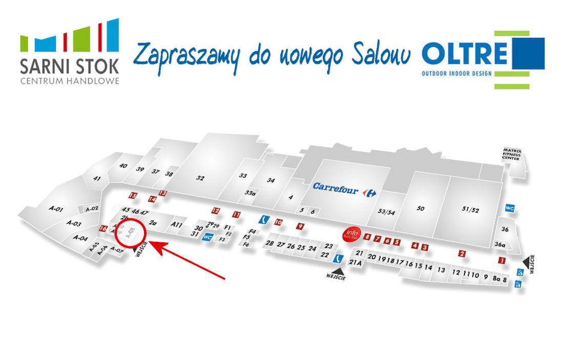 Nowy salon OLTRE w C.H. Sarni Stok w Bielsku-Białej