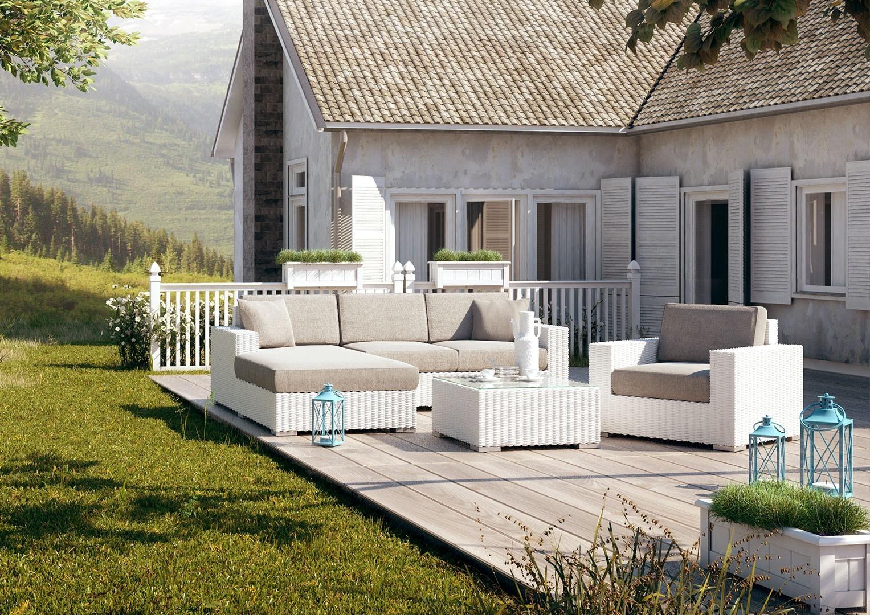 Meble ogrodowe na patio w nowoczesnym stylu