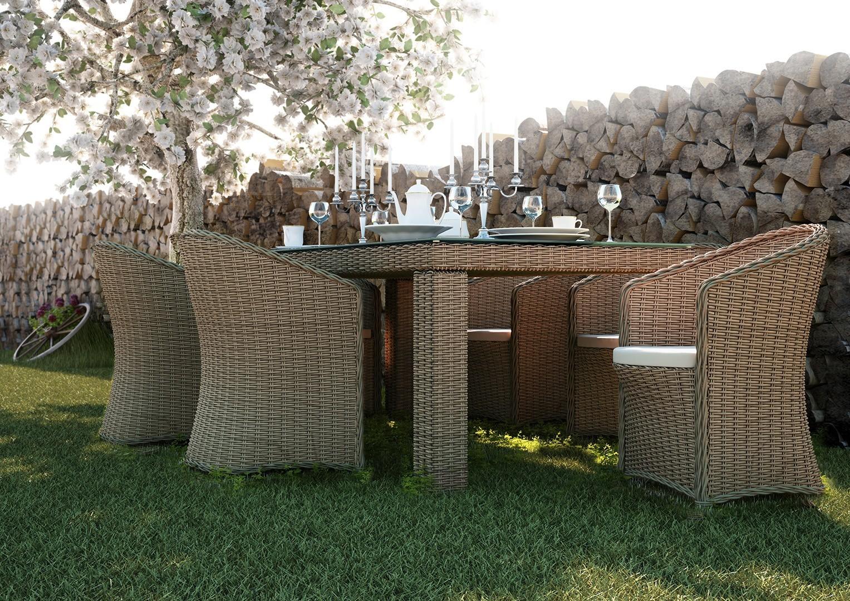 Na zdjęciu nowoczesne meble ogrodowe