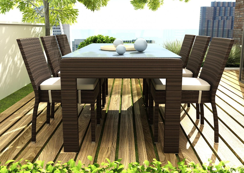 Krzesła ogrodowe z technorattanu