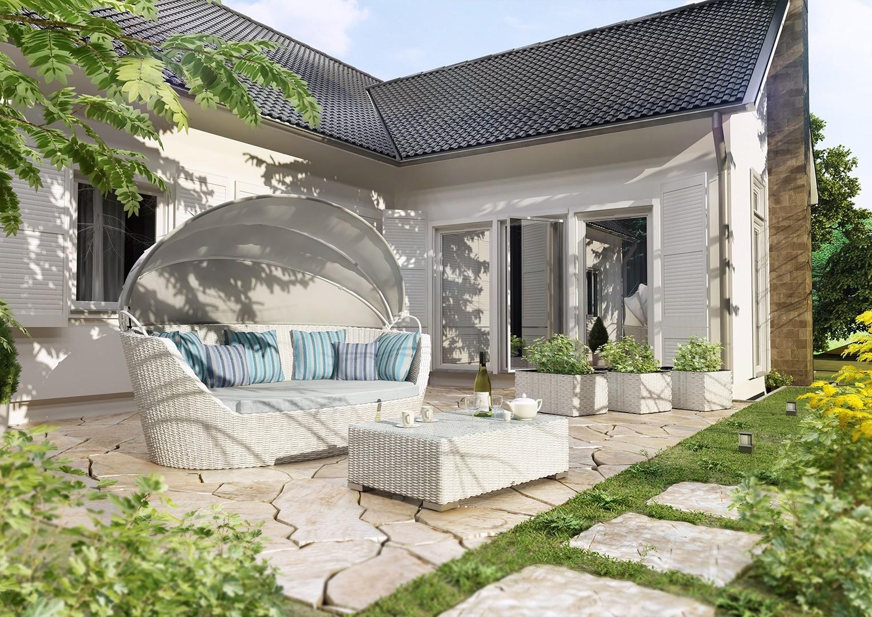 Łóżko ogrodowe – kojący odpoczynek na świeżym powietrzu