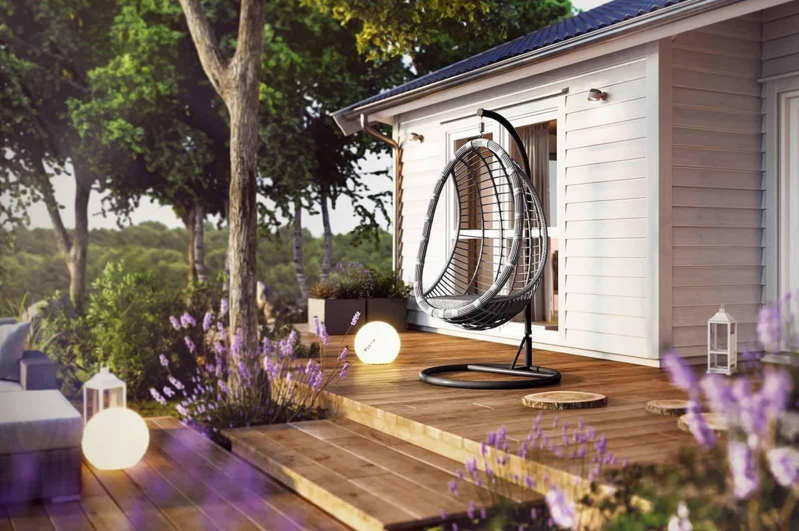 Fotel huśtawka – must have w modnym ogrodzie