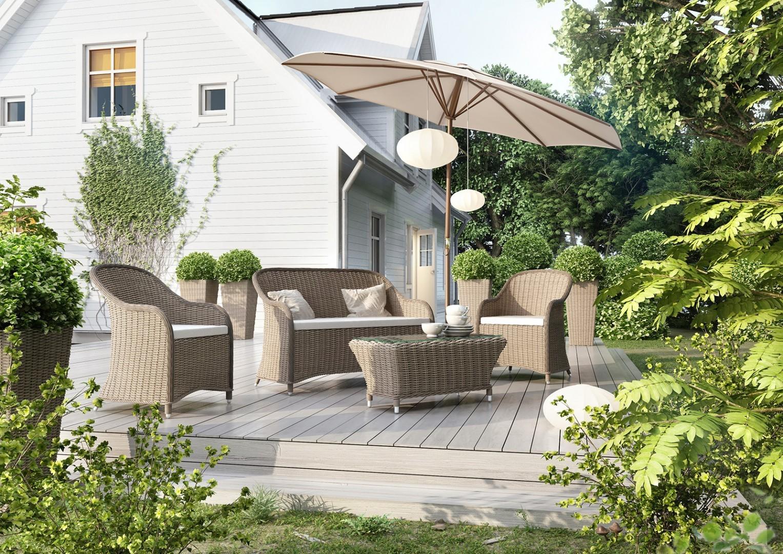 Wygodna i solidna sofa: technorattan w nowoczesnym ogrodzie