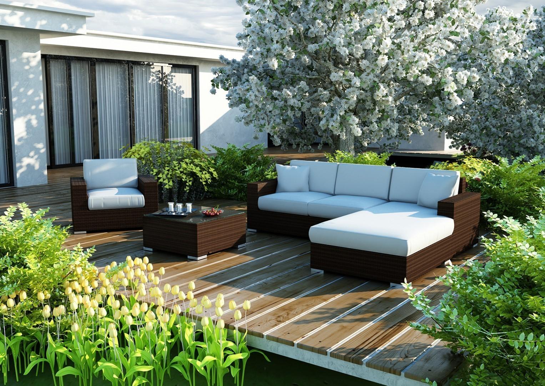 Na zdjęciu szezlong ogrodowy - Szezlong MILANO