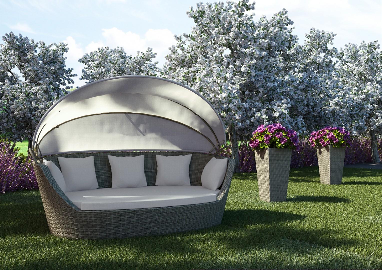 pomysł na taras sofa Portofino
