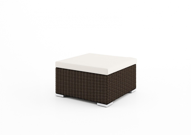 Stolik / puf VENEZIA/MILANO 72cm (z szybą i poduszką)