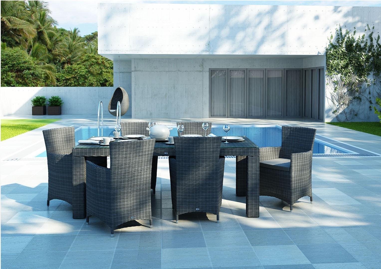 Technorattanowe krzesła ogrodowe i stół RAPALLO