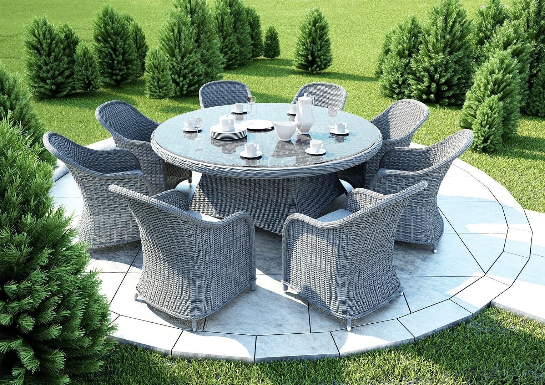 Na zdjęciu stół ogrodowy - Stół ogrodowy RONDO