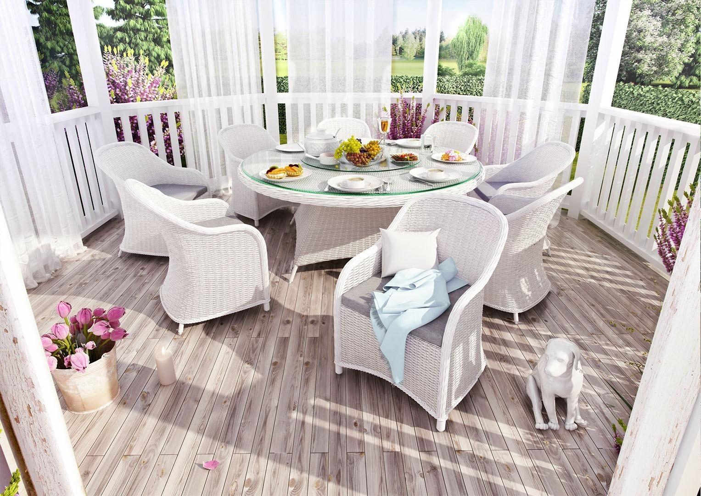 białe meble ogrodowe RONDO