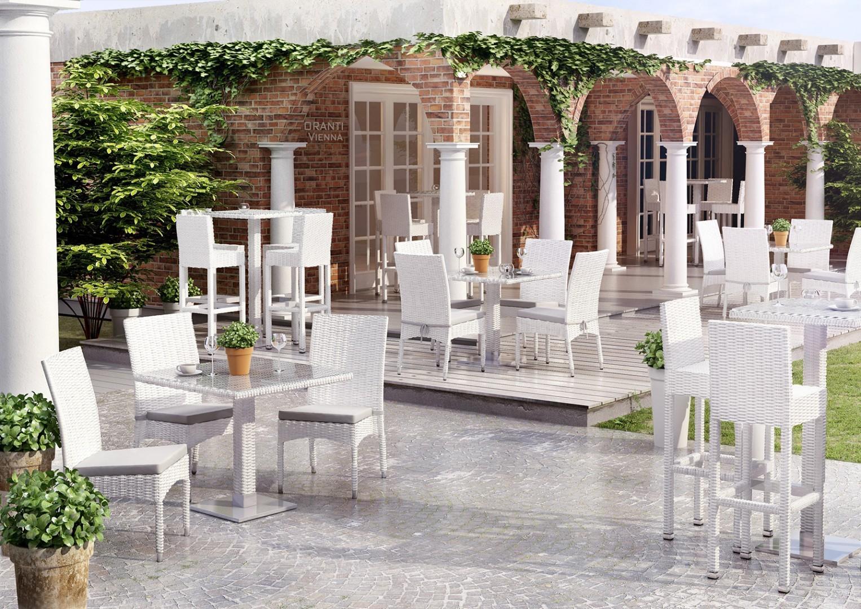 Technorattan - krzesła ogrodowe STRATO