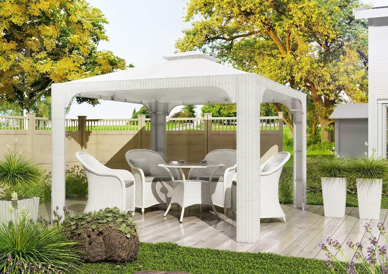białe meble ogrodowe LEONARDO