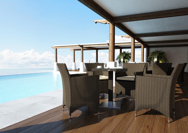 Stół z krzesłami na taras AMANDA