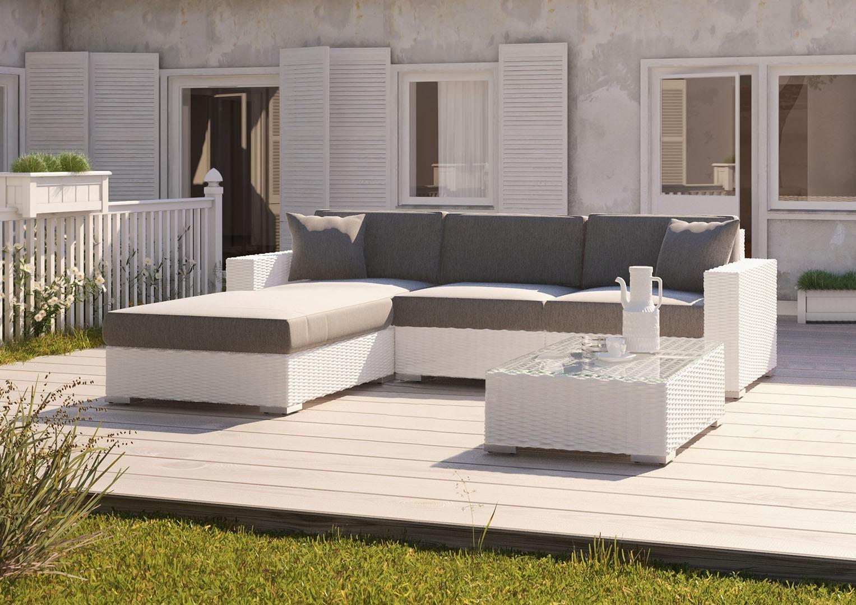 Meble ogrodowe MILANO Royal biały 2