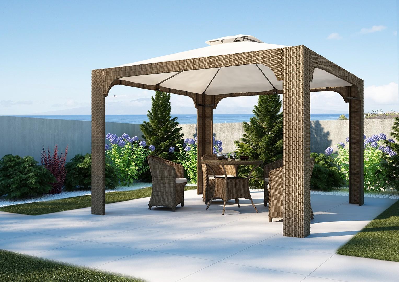 Ekskluzywne meble ogrodowe technorattan - stół ogrodowy FILIP II