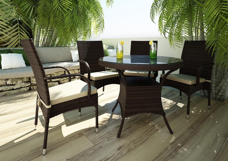 Stół ogrodowy FILIP II Modern brąz
