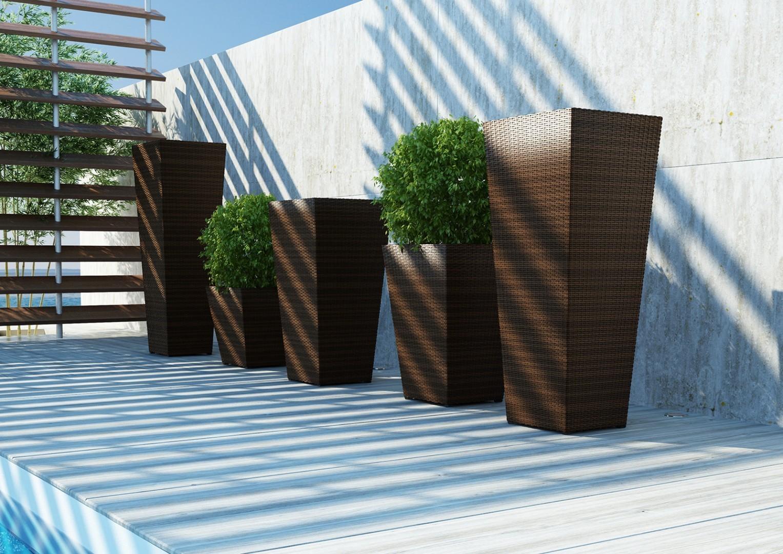 Donica ogrodowa SCALEO Modern brąz