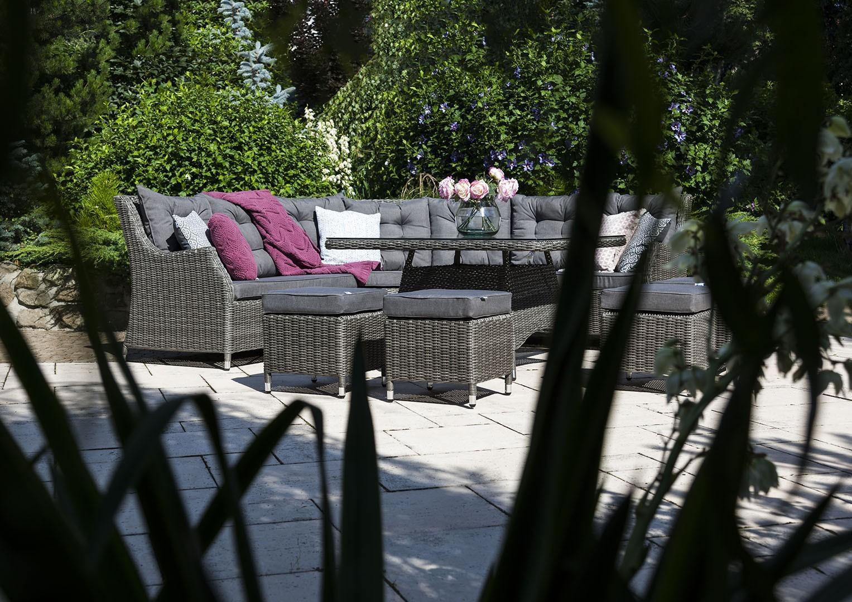 Zestaw mebli ogrodowych SIENA Royal szary