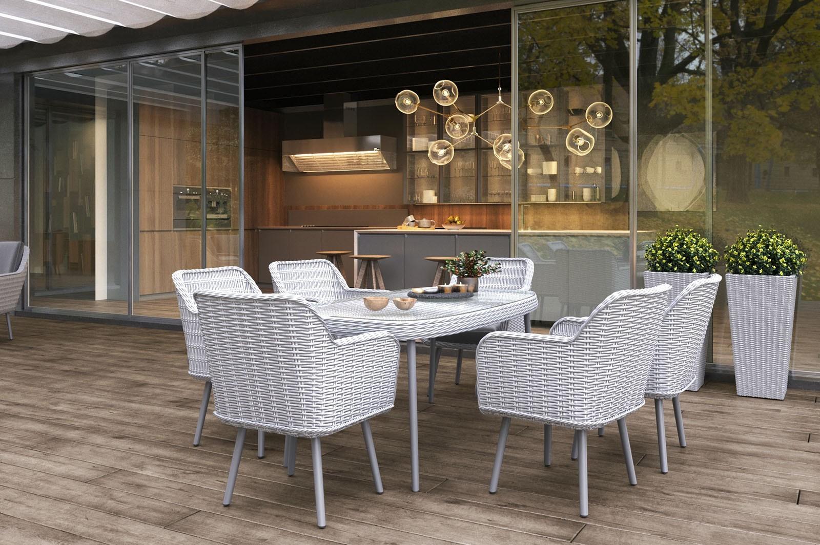 stół i krzesła ogrodowe ASTI